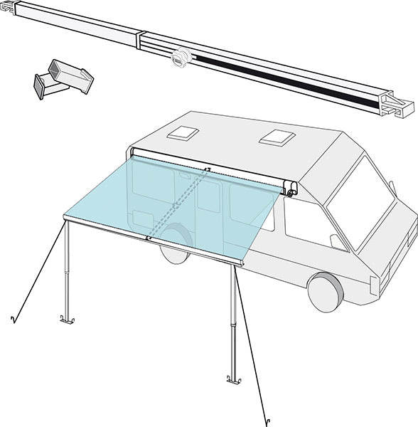 Rafter Kit for F65S or F80S Fiamma Awnings