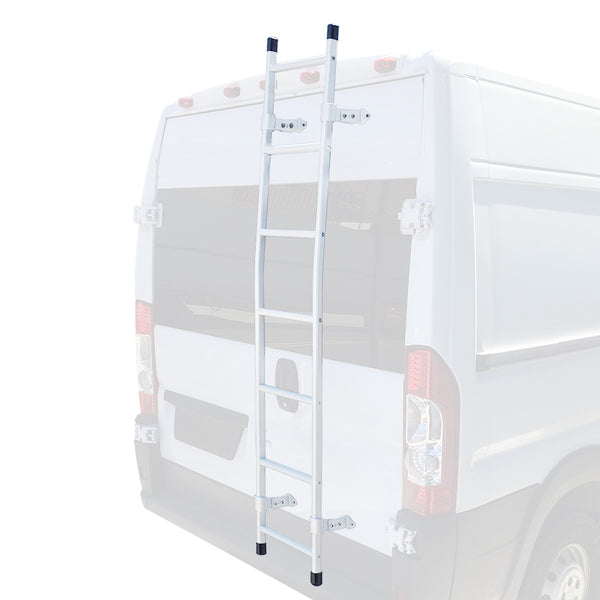 Transit van rear door ladder white