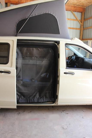 Metris van slider door insect screens