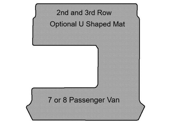 Metris Optional 2nd and 3rd Row U Shaped Mat