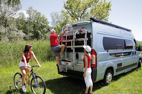 Promaster Rear Aluminum Ladder -Shown with Bike Carrier