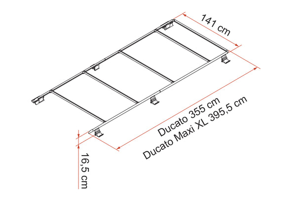 Promaster roof rack dimensions