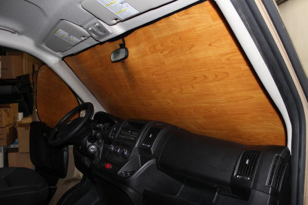 NV cab insulation light wood grain pattern