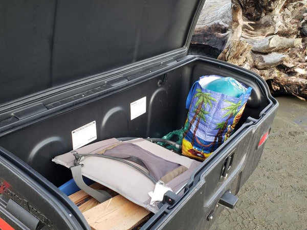 StowAway2 hitch cargo box for Promaster vans - open