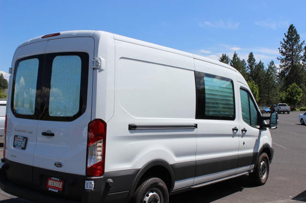 Promaster rear cargo insulation view - Shown on Transit