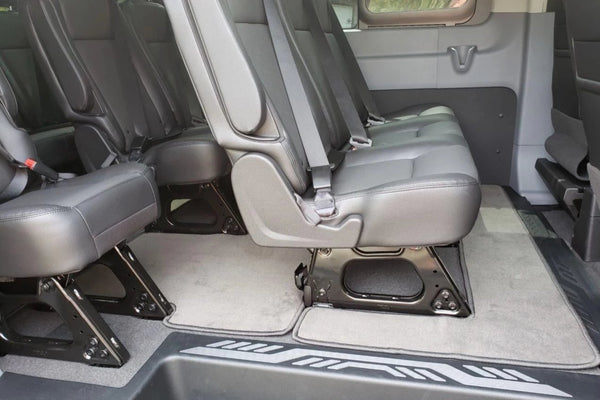 Transit Front and Rear Carpet Floor Mats 15 Passenger