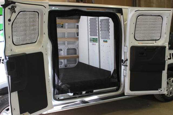 Transit low roof 4pc cargo insulation set - two windows in the side door and two rear door windows