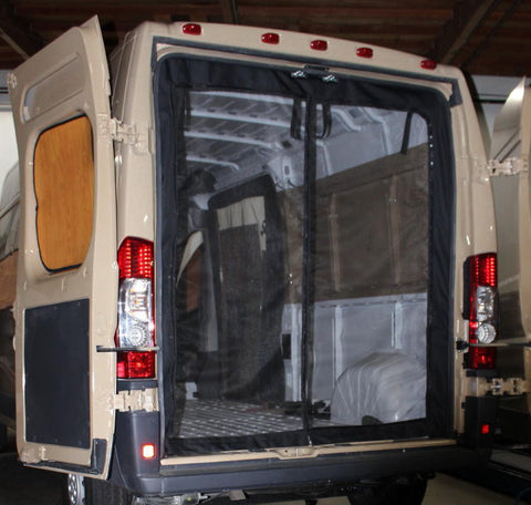 Dodge Ram Promaster rear door screen