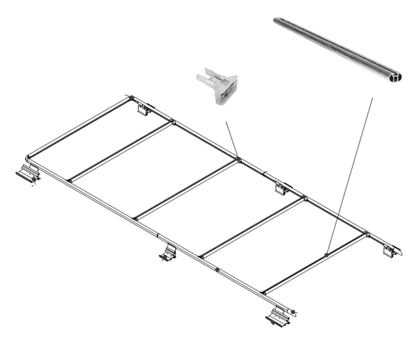 Promaster Fiamma Roof Rack Extra Cross Bar