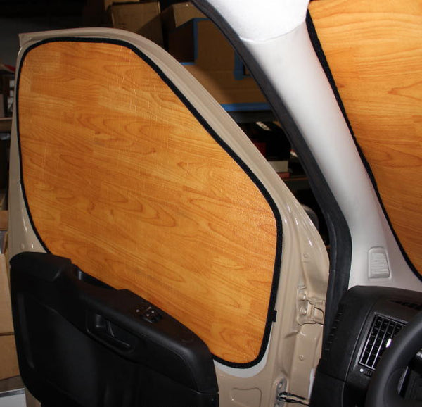 Nissan NV cab insulation drivers side light woodgrain