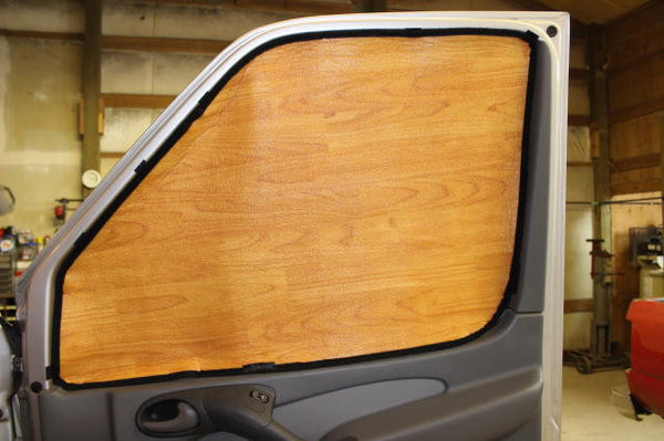 Transit Window Insulation Sets - Discontinued light wood shown