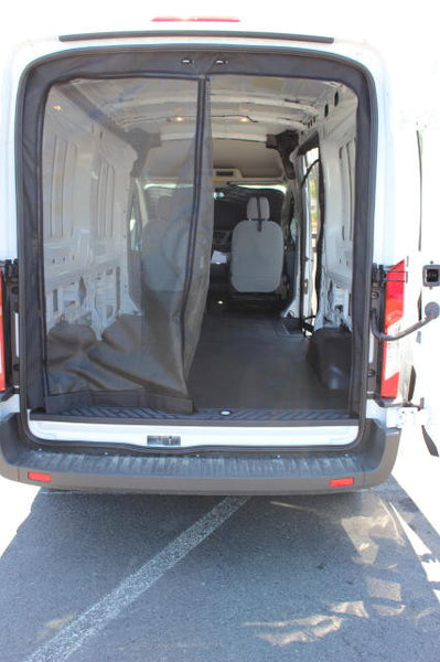 Rear door insect screen for Nissan NV - Open -  shown on transit