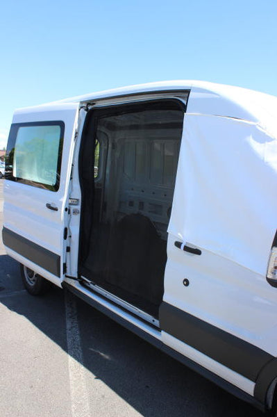 Transit full sized van slider door insect screen