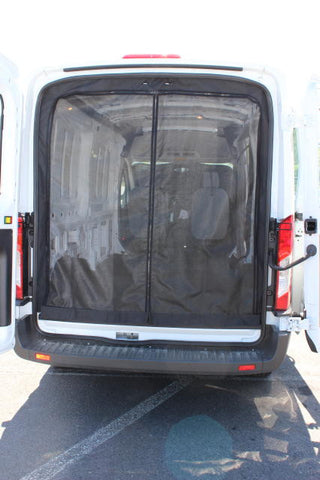 high roof rear cargo insect screens for NV Nissan shown on transit
