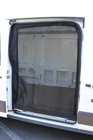 Nissan NV slider door insect screen shown on transit