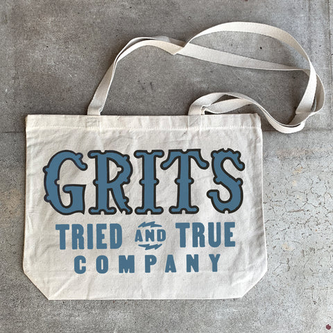 Grits Shop Tote - Blue