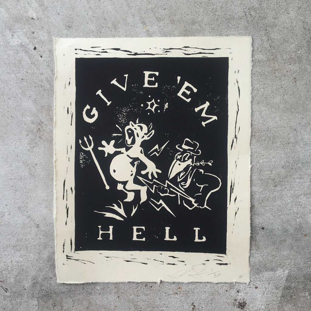 """Give Em Hell"" print - Grits Co."