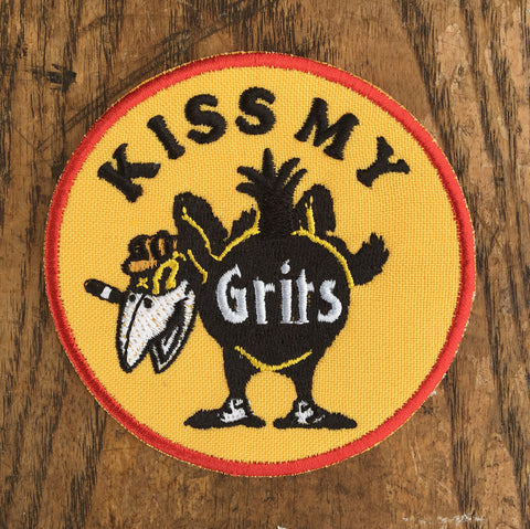 Kiss My Grits Patch- Pre Order- Reprint