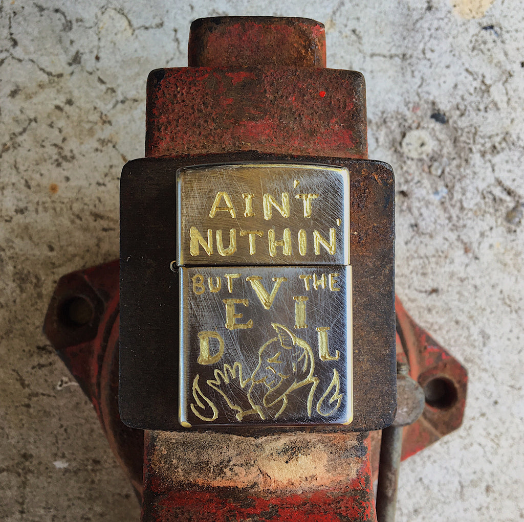 """Ain't nuthin' but the Devil"" Lighter"