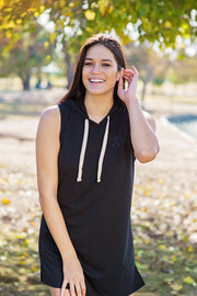 Sleeveless Hooded Dress