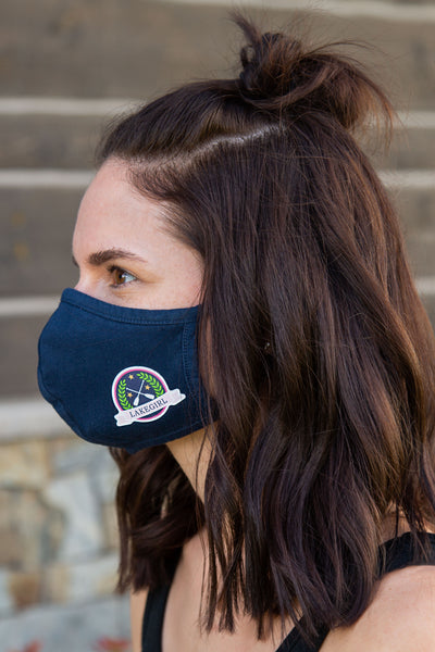 Lily Patch Navy Mask