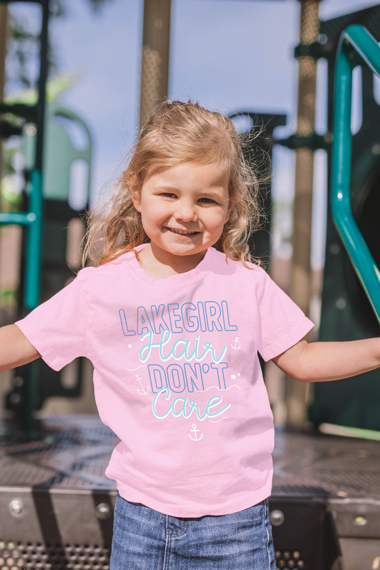 Toddler Lake Hair Don't Care Tee