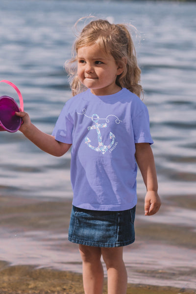 Toddler Floral Anchor Tee