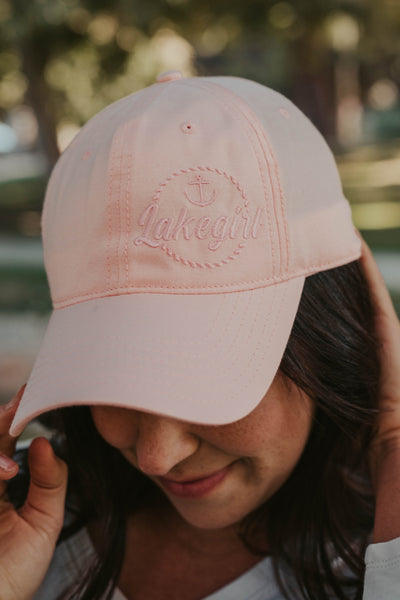 Chambray Cap in Shell Pink