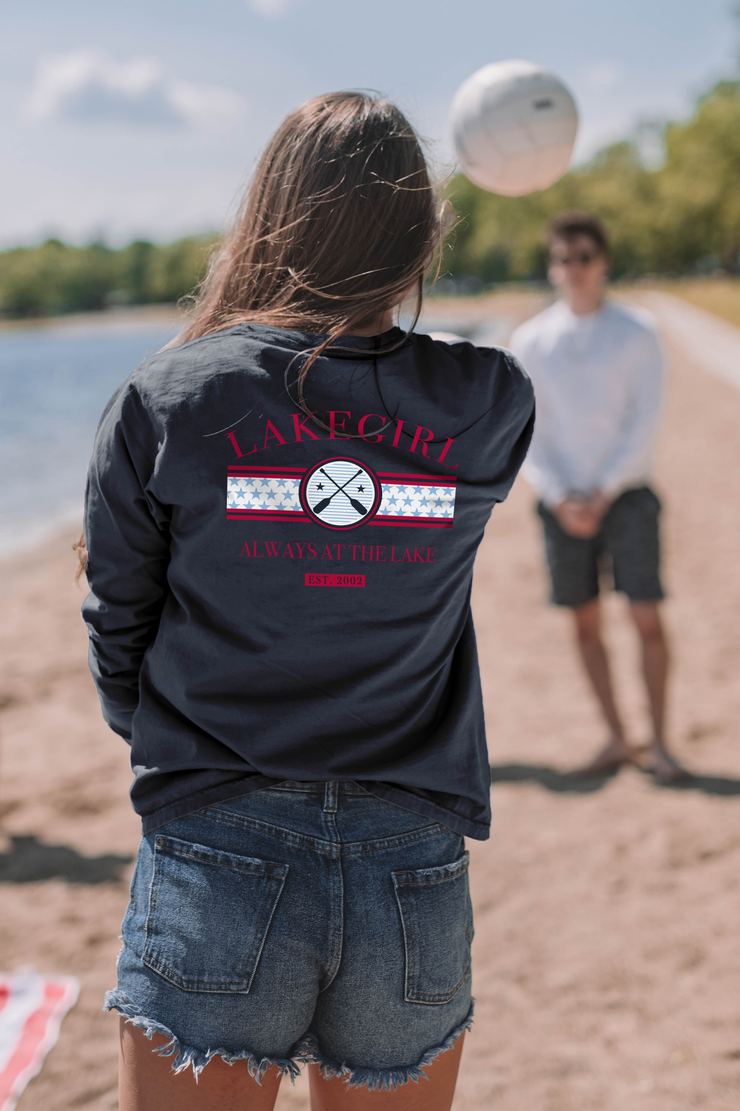 Always at the Lake Long Sleeve Ringspun Tee