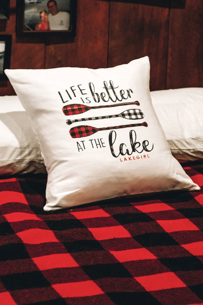 Plaid Paddles Pillow Case
