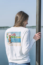 Always On The Lake Patriotic Pinup Tee