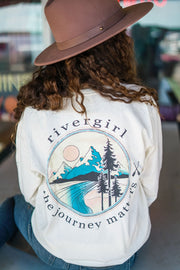 Rivergirl Catching Up Long Sleeve Ivory T-shirt