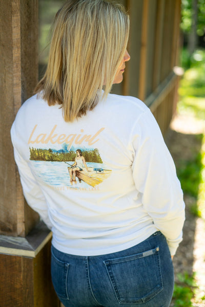 Lakegirl Fishing Ringspun Tee