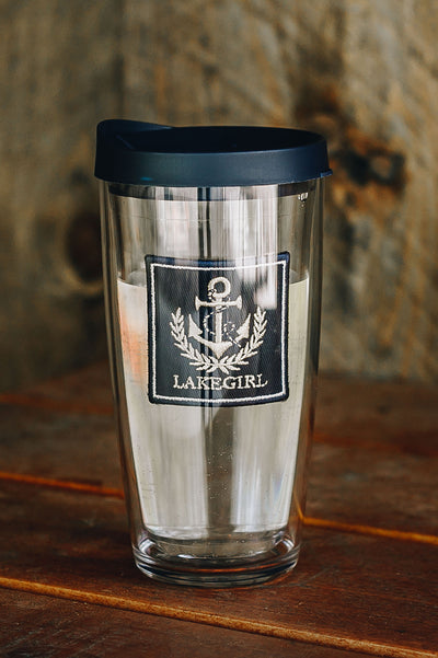 Anchor Patch Tumbler with Lid (16oz)