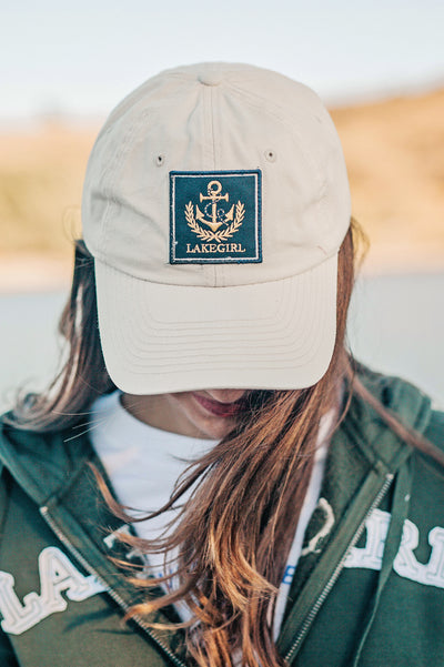 Lakegirl Admiral Club cap, twill low profile baseball style cap.