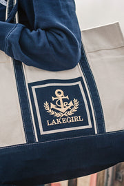 Nautical Anchor Patch Tote Bag