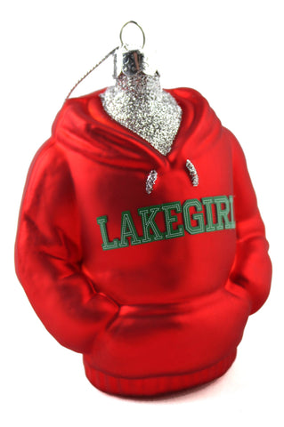 Lakegirl Glass sweatshirt Ornament