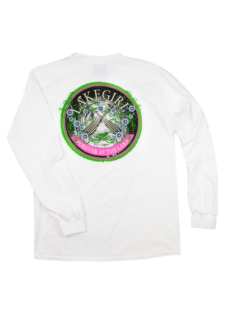 Lakegirl Forget-me-not Paddles long sleeve t-shirt