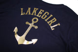 Lakegirl Gold Front Pocket Anchor Tee_NAVY TL920NV