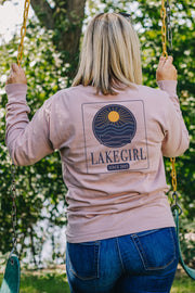 Lakegirl Paddles Long Sleeve Mauve Tee