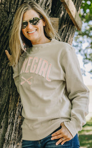 Sanded Fleece Crew Neck Sweatshirt