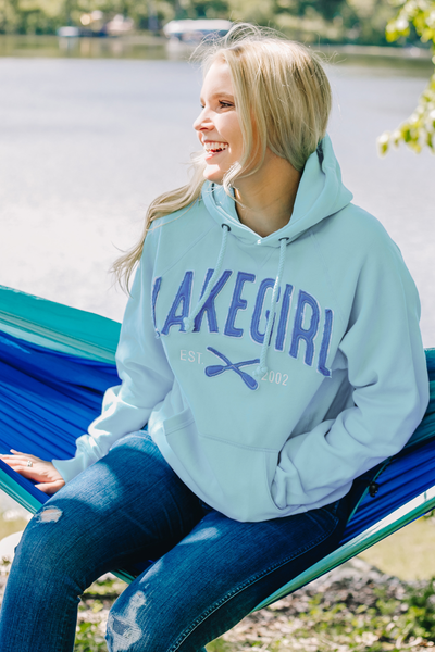 Sanded Fleece Hooded Sweatshirt in Surf