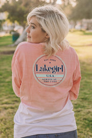 Ombre Sky Rope Long Sleeve Tee