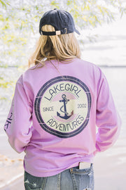 Adventures Anchor women's Lakegirl long sleeve tee, relaxed fit, 100% cotton.