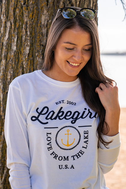 Lakegirl Life At The Lake Long Sleeve Tee