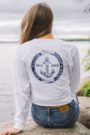 Pompeii Anchor Long Sleeve Crop Tee