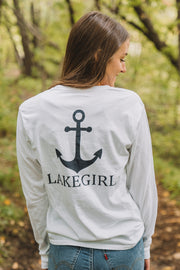 Tagline Anchor Long Sleeve Pocket Tee