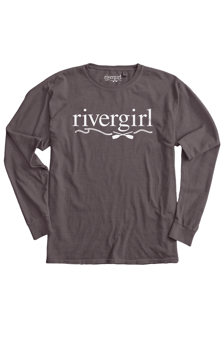 Rivergirl Logo Long Sleeve Crew Amethyst T-shirt