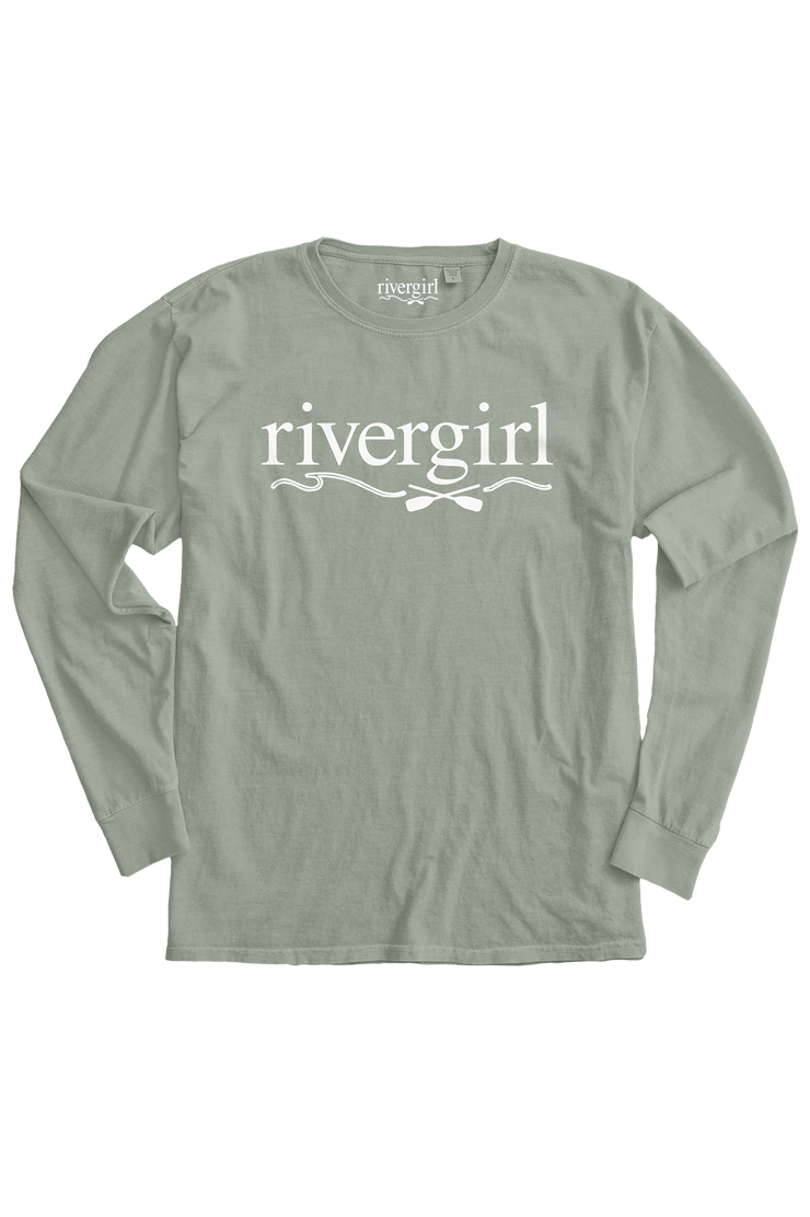 Rivergirl Logo Long Sleeve Crew Pale Jade T-shirt