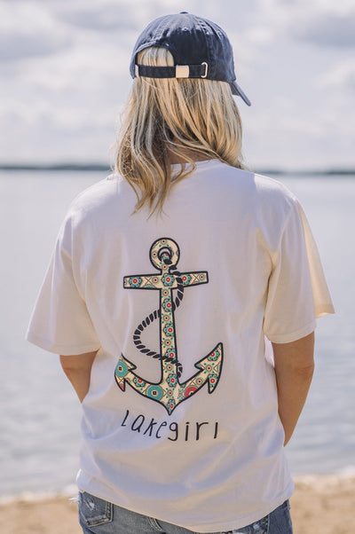 Ivory Wish List Anchor Tee